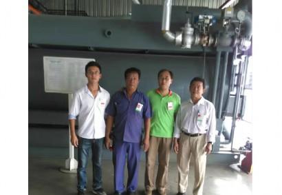 印度尼西亚Medan烟厂0.8MPa蒸汽型双效吸收式冷水机组