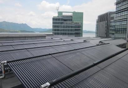 香港科技园70kW热水型溴化锂吸收式冷水机组(太阳能空调系统)