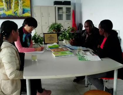 肯尼亚客户到我公司参观考察